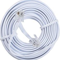 Καλώδιο Συνδέσεως τηλεφώνου με Κλιπς 6m Λευκό