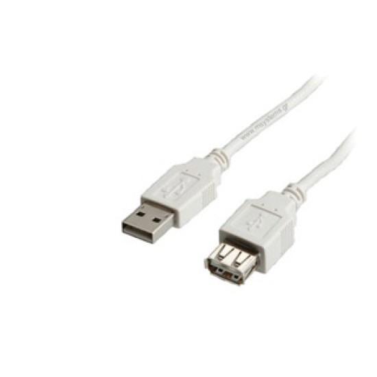 Καλώδιο USB ΕΠΕΚΤΑΣΗΣ Powertech USB 2.0  MALE σε USB female 5m