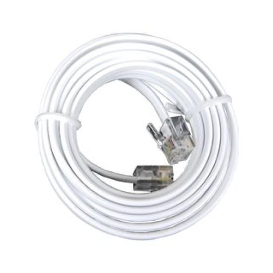 Καλώδιο Συνδέσεως τηλεφώνου με Κλιπς 3m Λευκό