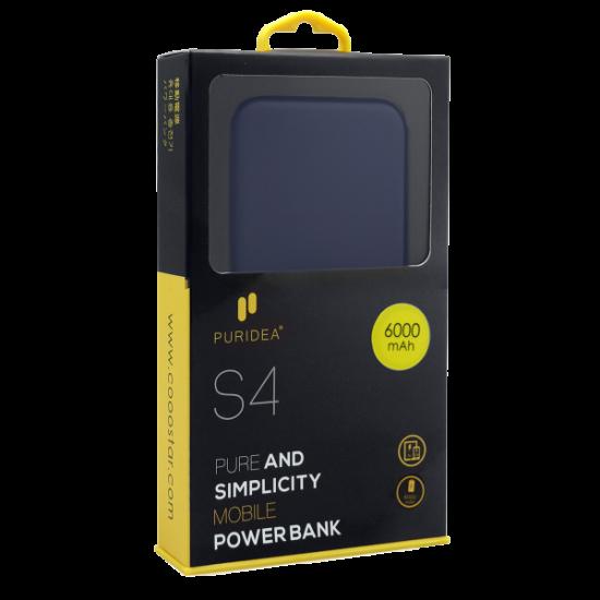 Φορτιστής power bank  PURIDEA S4 6.000mAh