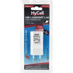 ΦΟΡΤΙΣΤΗΣ 2 Χ USB HYCELL 5V / 2,4A