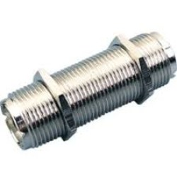 Double female UHF SO-239 barrel connector (3 inches)