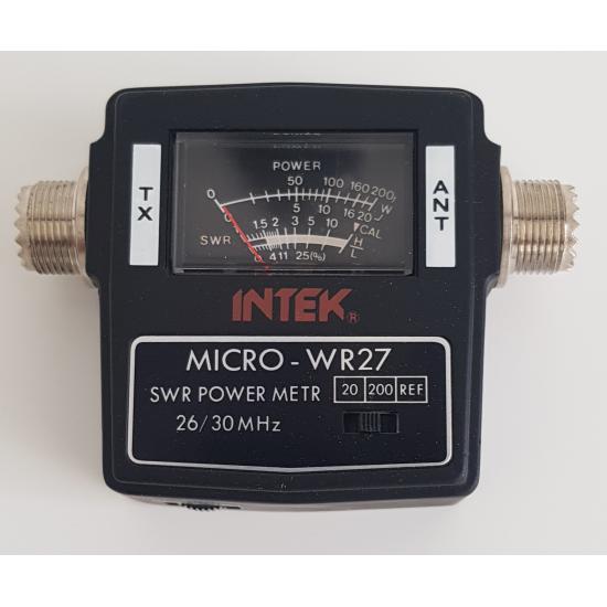 ΓΕΦΥΡΑ CB  (SWR METER / WATT METER ) MICRO-WR27 26-30MHz INTEK