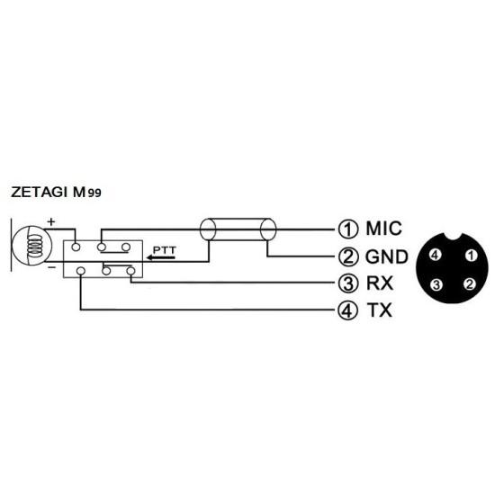 ΜΙΚΡΟΦΩΝΟ CB ZETAGI M99
