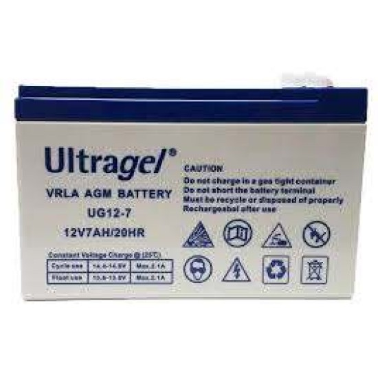 RECHARGEABLE BATTERY 7AH/12V - ULTRAGEL