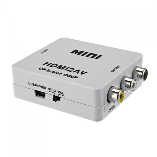 ΜΕΤΑΤΡΟΠΕΑΣ HDMI ΣΕ 3 RCA - CVBS - AV FULL HD