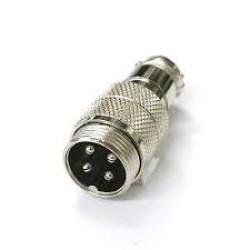 4 PIN CB MICROPHONE PLUG  METAL