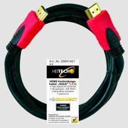 Επιχρυσωμένο καλώδιο HDMI Heitech High Speed 1.5m