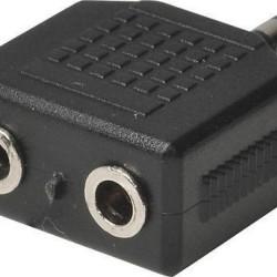 ΣΤΕΡΕΦΩΝΙΚΟΣ ΑΝΤΑΠΤΟΡΑΣ 3,5mm σε διπλό 3.5 mm HEITECH